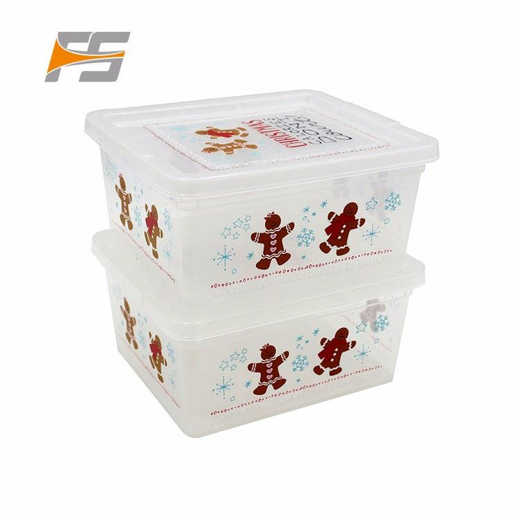 High Pressure Hydraulic Christmas Sectioned Food Containers In Plastic
