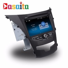 Dasaita 7 inch touch screen Android 7.1 2 din audio stereo Car DVD Palyer GPS Navigation for SsangYong New Actyon Korando 2014