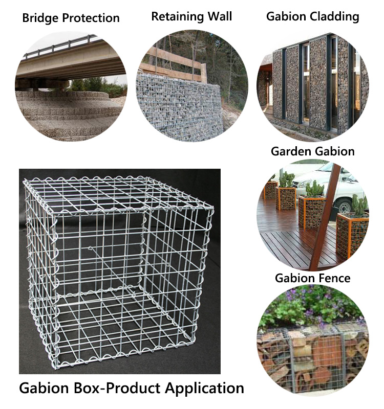 200x100x50welded galvanized gabion baskets,Steel Wire Mesh gabion box