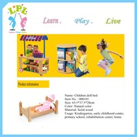 Cute mini toy doll house wooden furniture doll bed