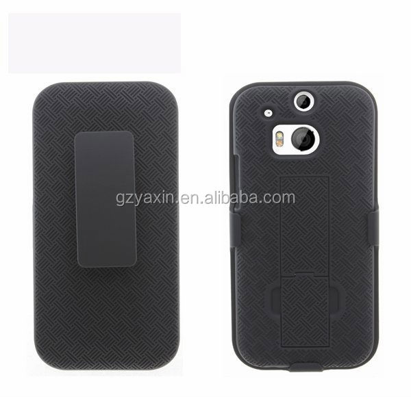 Combo holster case for htc one m8,hot selling flip case for htc one m8, phone protector cover case for m8