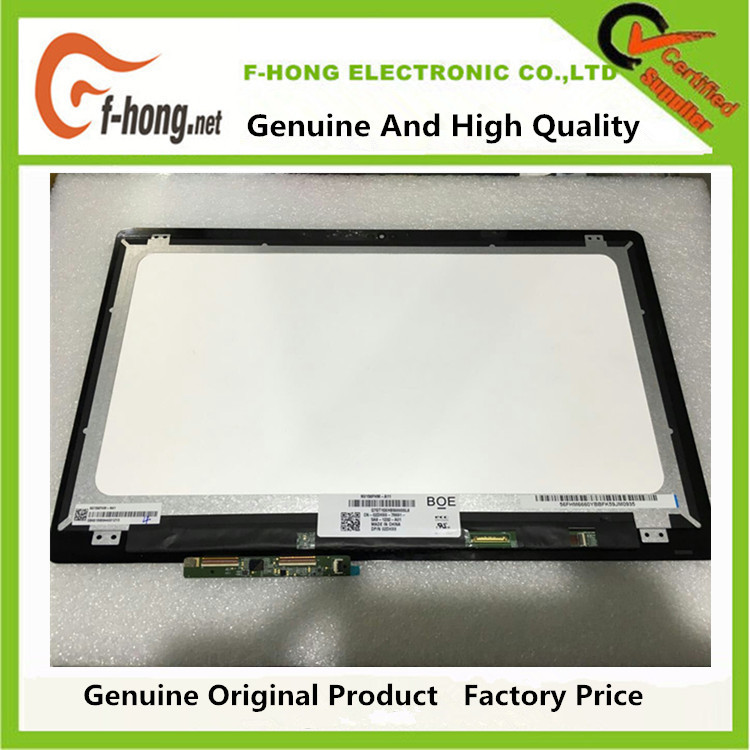 LCD Touch Screen With Bezel LCD Assembly FHD For Dell I7568-2867T 02DHX6