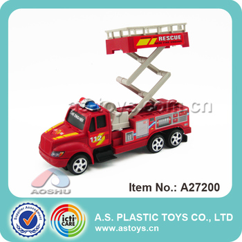 Fire fighting truck friction power toys cars