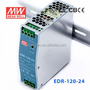 ORIGINAL Meanwell EDR-120-24 120W AC-DC economical and slim DIN Rail 24v 5 amp power supply