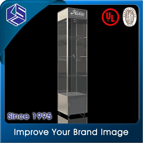 Modular eyeglass displays / glass display showcase kiosk for retail of sunglass