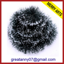 Hot sale high quality 2015 wholesale black christmas tinsel garland with snow