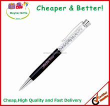 Low price pen Logo lasered crystal pen