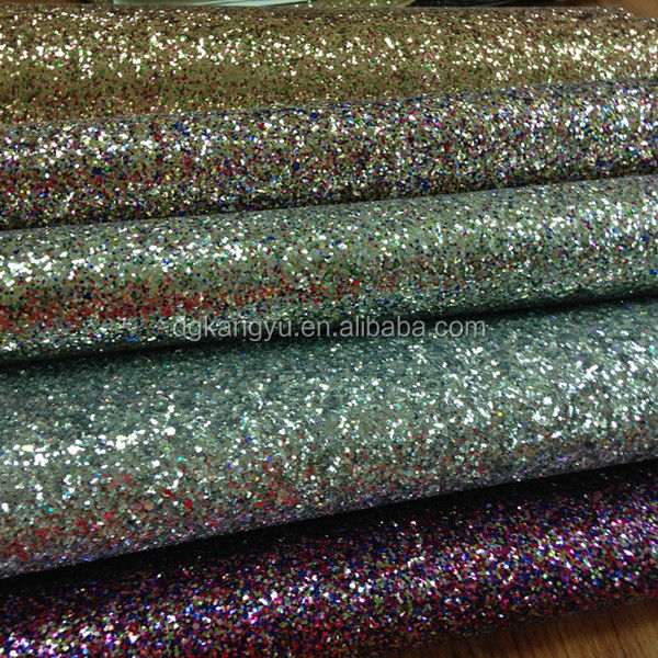 PU glitter <strong>leather</strong> for shoes upper