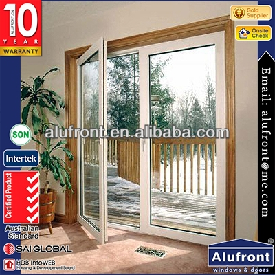 Top quality acoustic aluminium french casement door comply with AS2047with 10year warranty exterior aluminum screen room doors