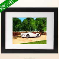 Top design landscape painting trees and car print photo scenery picture