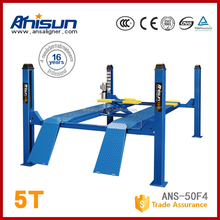 4 post wheel alignment hydraulic car lift price 5000KG