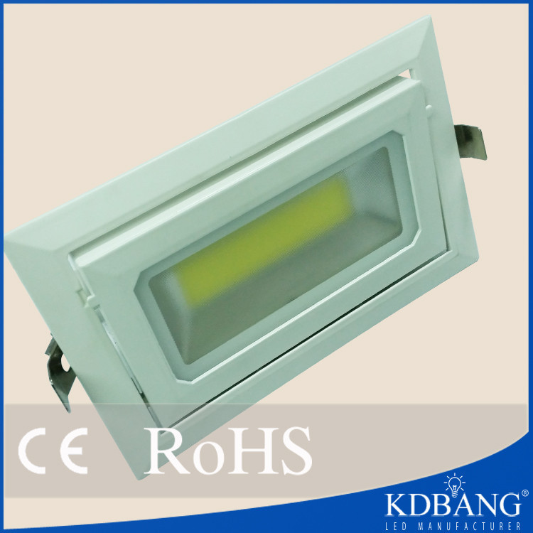 Factory price square 20w cob led downlight housing