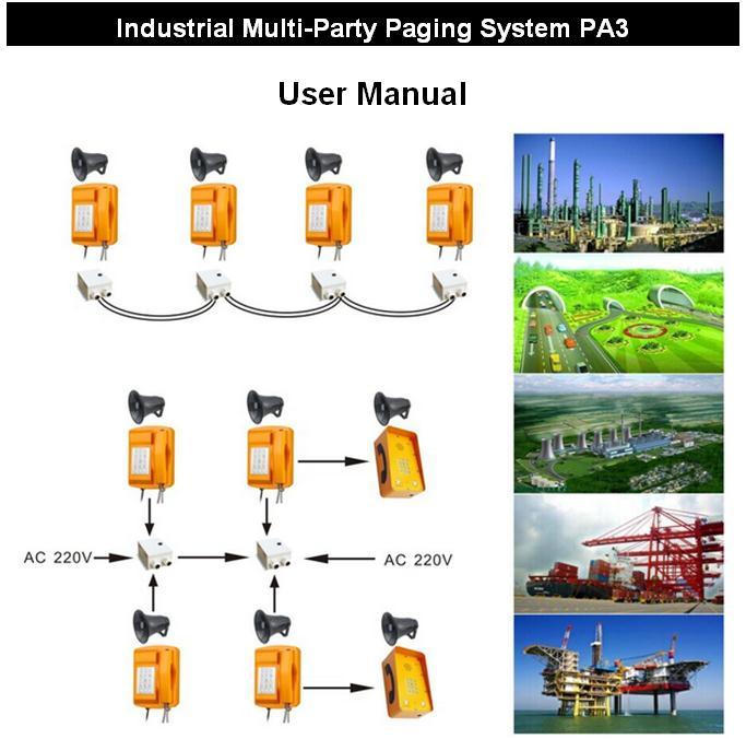 PA3 radio dispatch system Industrial Duplex Multi-Party Paging Broadcasting System,pabx telephone system