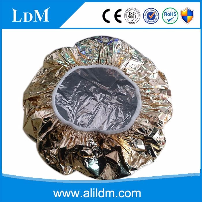 customize aluminum foil shower cap for hair beauty/heated shower cap