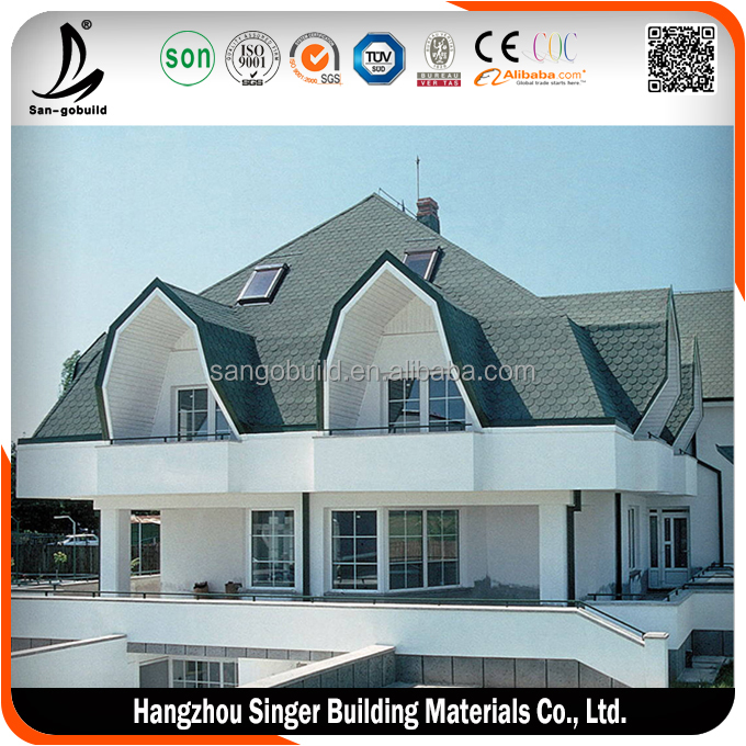 Best quality fish scale roof shingles, low price interlocking roof shingles