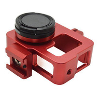 Custom CNC machining parts red/black/blue anodized aluminum case for ip camera