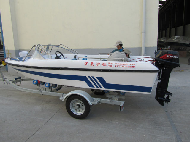 WH430 open boat military patrol boat for sale