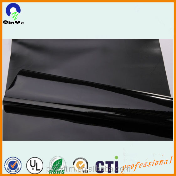 soft PVC film polish black/factory price garments used 100% pure PVC