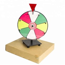Wholesale 12 inch Table Lucky Spin Wheel of Fortune Prize Wheel