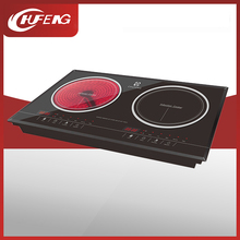 Combined induction cooker vs infared cooker/double infared induction cooker/ infrared and electric induction hob