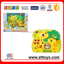 Hot sale education toys for cartoon baby giraffe 2-in-1 projection toys