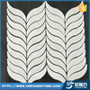 Natural White Marble Leaf Shape Mosaic