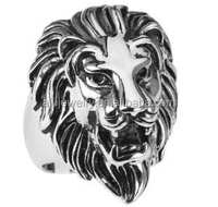 925 Silver Antique Lion Head Ring