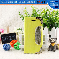 Bling Diamond Magnetic Leather Wallet Flip Case Cover For iPhone 5 Diamond Bling Case