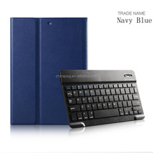Explosion proof Ultra-thin Folio mix colors pu leather bluetooth keyboard tablet cover for Apple iPad Air1/2