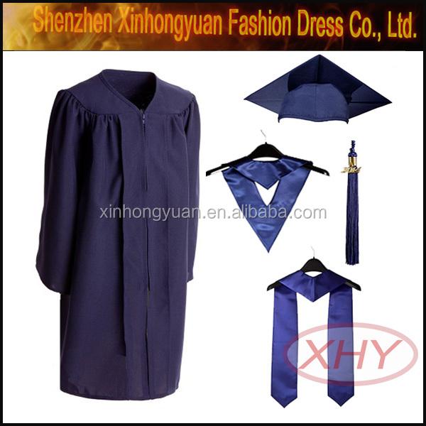 Latest new design school graduation gown, View school graduation ...