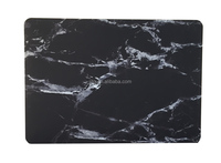 Anti-dust Matte Marble Pattern Hard Plastic Laptop Case for Apple Macbook Air 13.3(Black with strip)