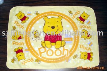 Soft 100%Polyester Microfiber Cartoon Printed Polar Fleece Baby Blanket/Snuggle