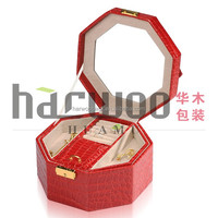 Low Cost Small Leather jewelry box with mirror for sale