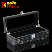 Luxury Lockable Wooden Acrylic Window Watch Display Box