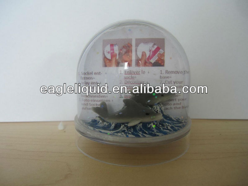 souvenir gift promotion custom picture foto plastic snow globe with photo insert