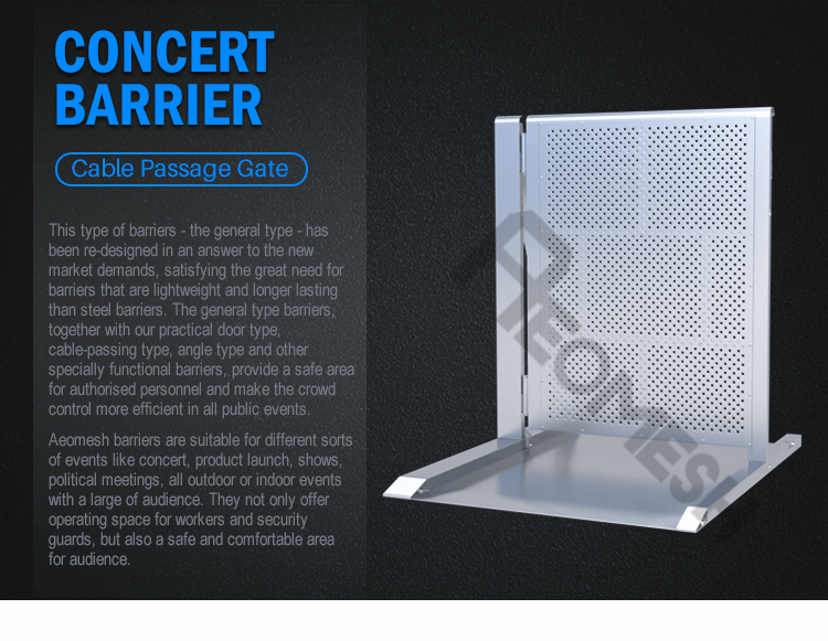 AEOBARRIER cable path type Concert Barrier