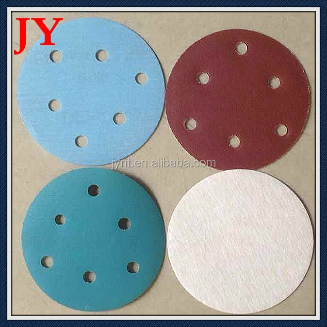hook and loop aluminium oxide sanding pad with holes