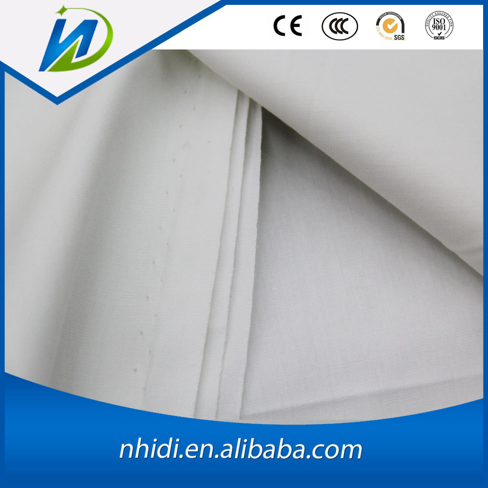 cheap woven tc bleached poplin fabric for hospital doctor uniform