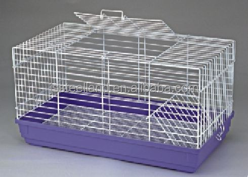 wire mesh with plastic tray small folded rabbit cages