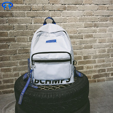 Solid color fashion casual backpack simple backpack