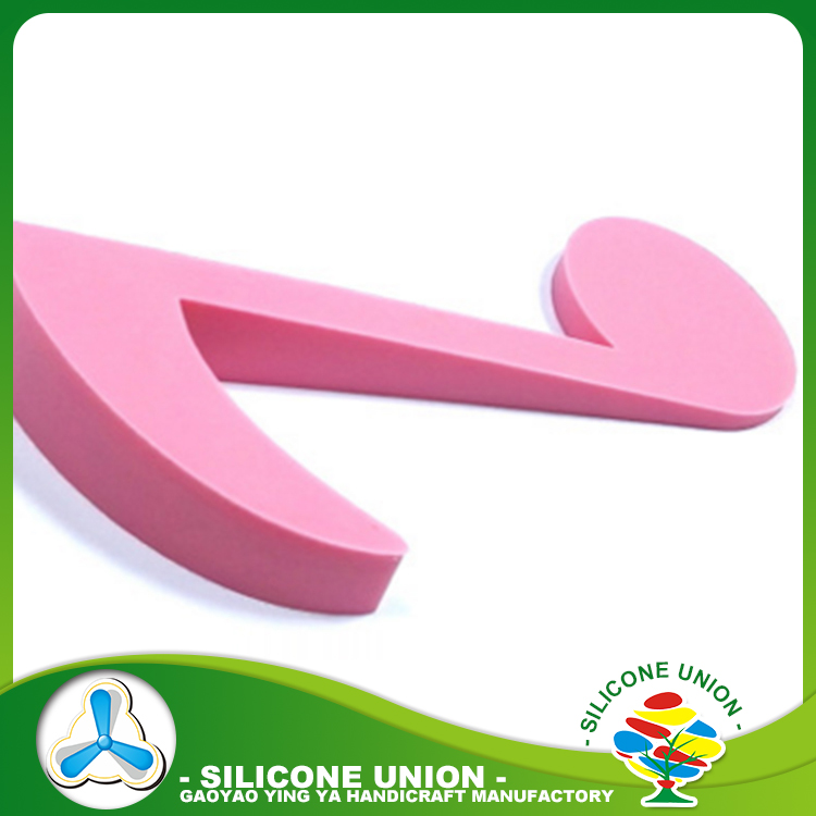 New style musical note shape decorative silicone rubber door stop