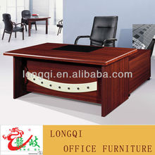 L shape modern design with leather table top wooden MDF manager desk office executive table design