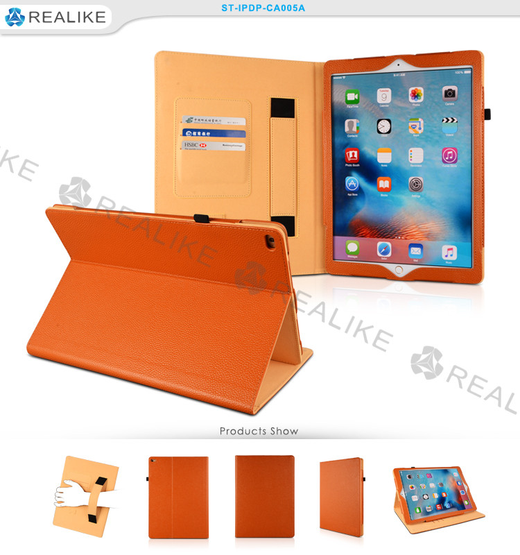 Hot sale folder leather tablet pc case Four-folded case cover for apple ipad 2