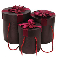 Mountain Cylindrical barrel with rope lovely paper box of chocolate