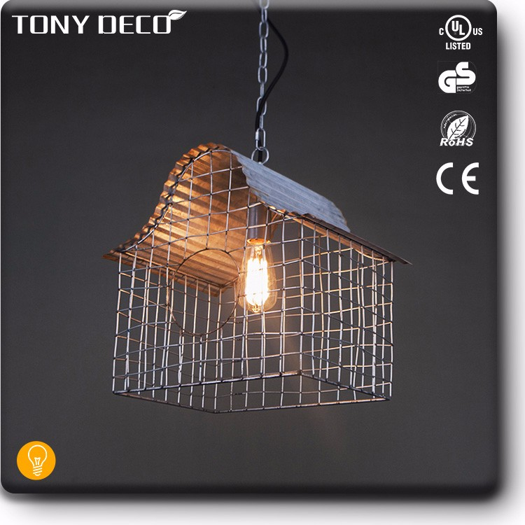 BAA65485 New Design Birdhouse Shape Metal Office Light Pendant Lamp