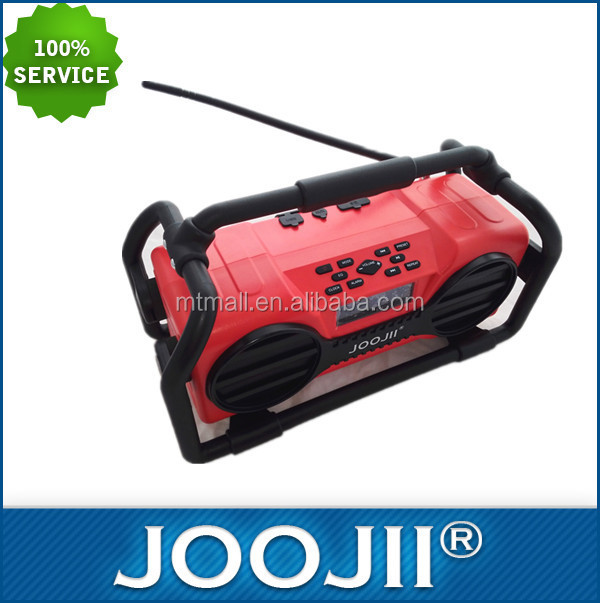 Portable Construction site Radio with Big Capacity Rechargeable battery