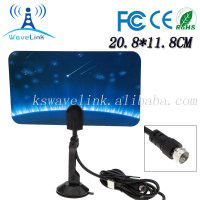 Indoor Digital TV Antenna Full HD 1080p VHF / UHF DVB-T Aerial F Male Connector For DVB/TV