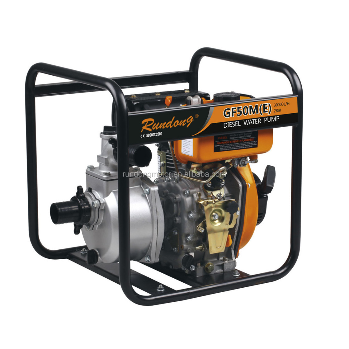 Diesel water pump,5HP water pump.recoil /electric start,suction 7m