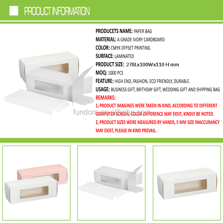 plain white matte lamination 300 gsm food grade paper cake roll boxes