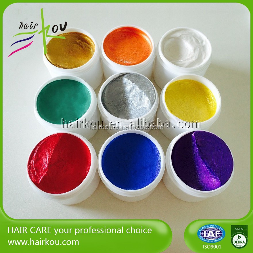 Temporary Hair Coloring Wax/Hair Dye Pomade Last Whole Day For Hair Styling